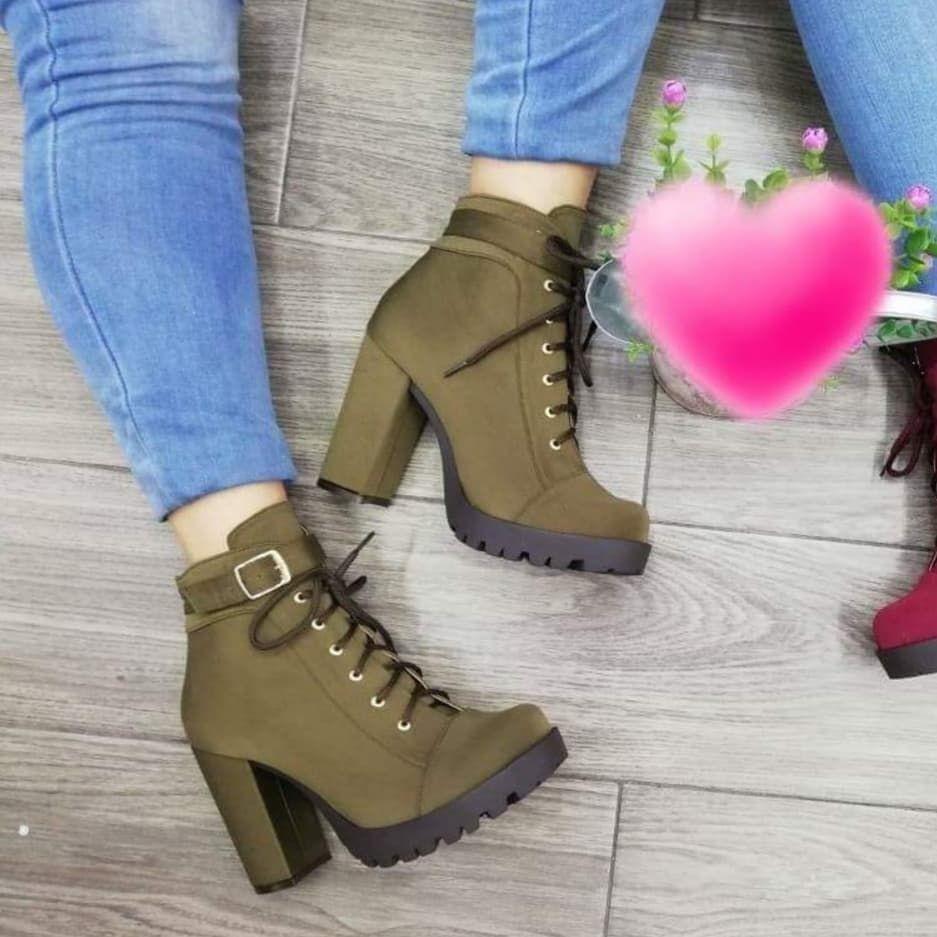 2f9563a5 botines de moda 2018 mujer | Zapatos en 2019 | Zapatos, Botin de ...