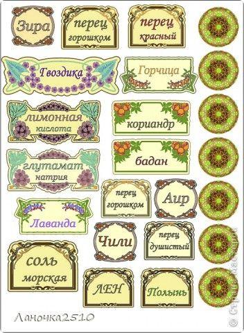 Декор предметов Декупаж картинки на тему специи Бумага ...