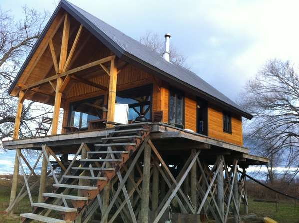 Advice on foundation for a cabin on stilts stilt house for Stilt house foundation