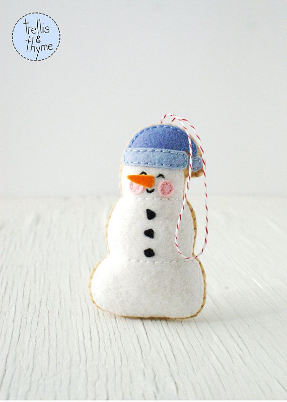 PDF Pattern - Marshmallow Snowman, Kawaii Christmas Ornament Pattern ...