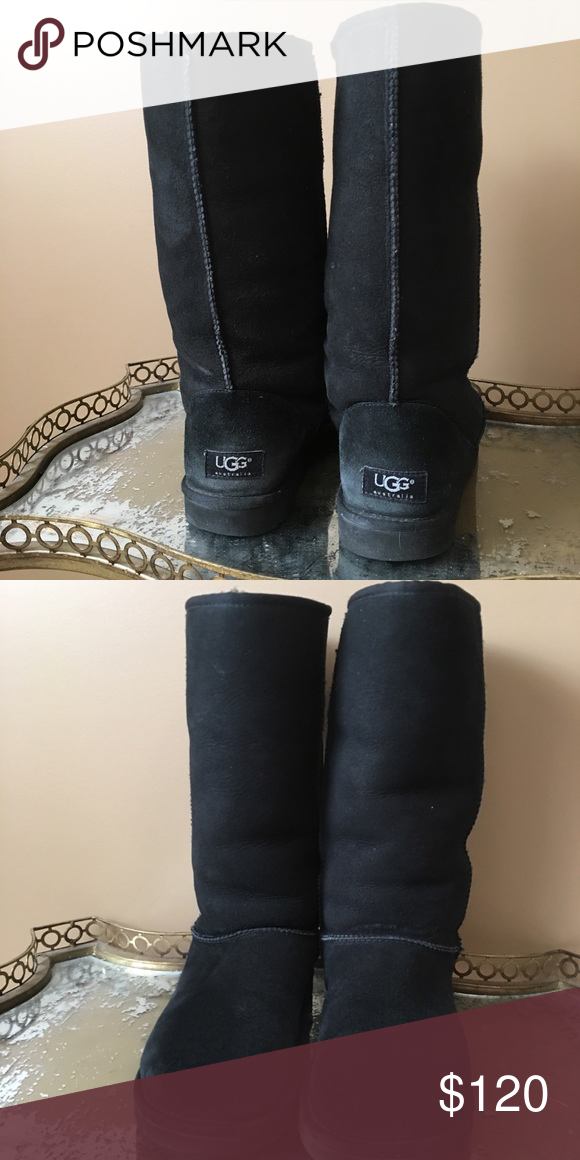 Barely worn black tall Ugg Boots