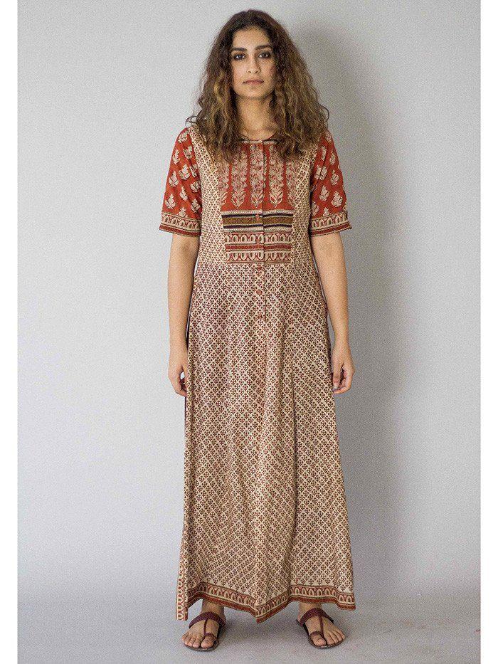 Kora Boti Cotton Mul Kurta | my choices | Pinterest