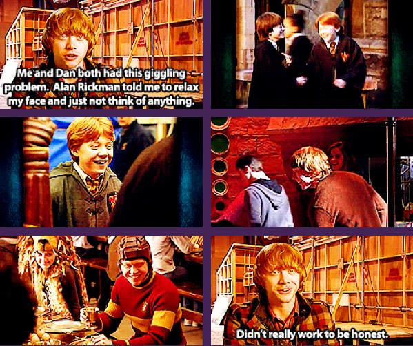 Didn T Really Work To Be Honest Rupert Grint Harry Potter Obsession Harry Potter Harry Potter Cast
