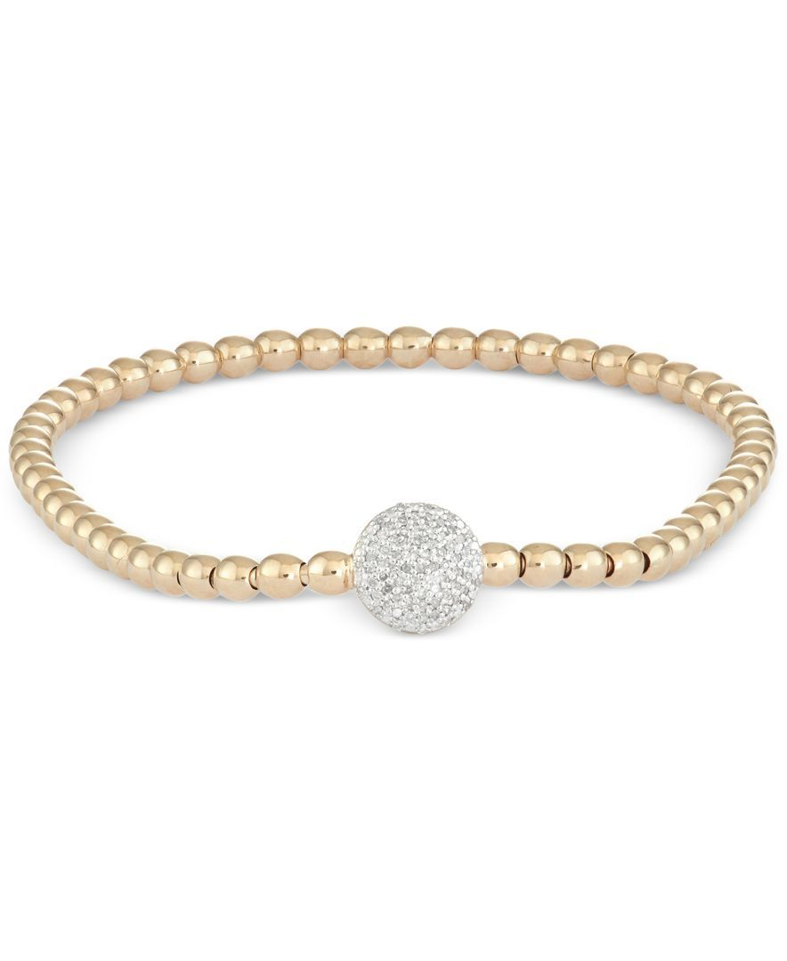 Wrapped diamond dot stretch bracelet ct tw in k gold