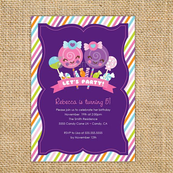 Candy Sweet Shop (Shoppe) Kawaii Birthday Printable