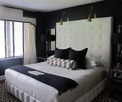 Heirloom Philosophy White Headboard Modern Bedroom Interior