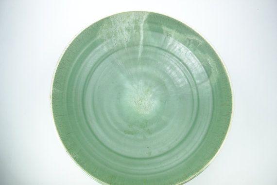 Big ceramic bowl, green bowl, Big Bowl, ceramic bowl, Big Pasta Dish, fruit…