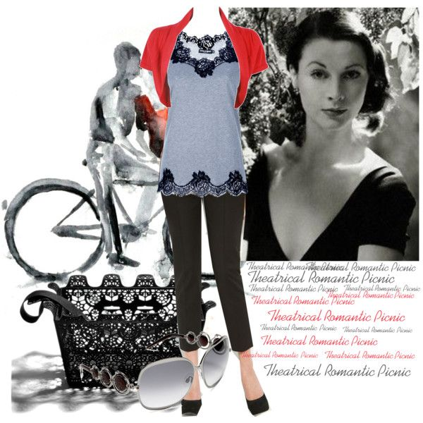 A fashion look from January 2013 featuring scalloped top, fever tops en black trousers. Browse and shop related looks.