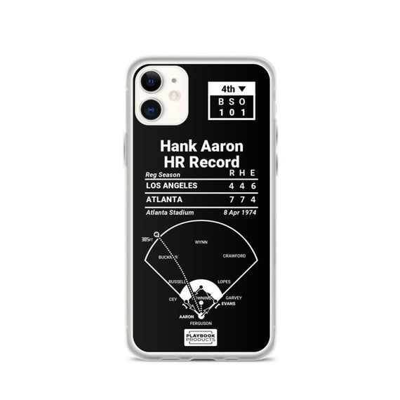 Greatest Braves Plays iPhone Case Hank Aaron HR Record 1974