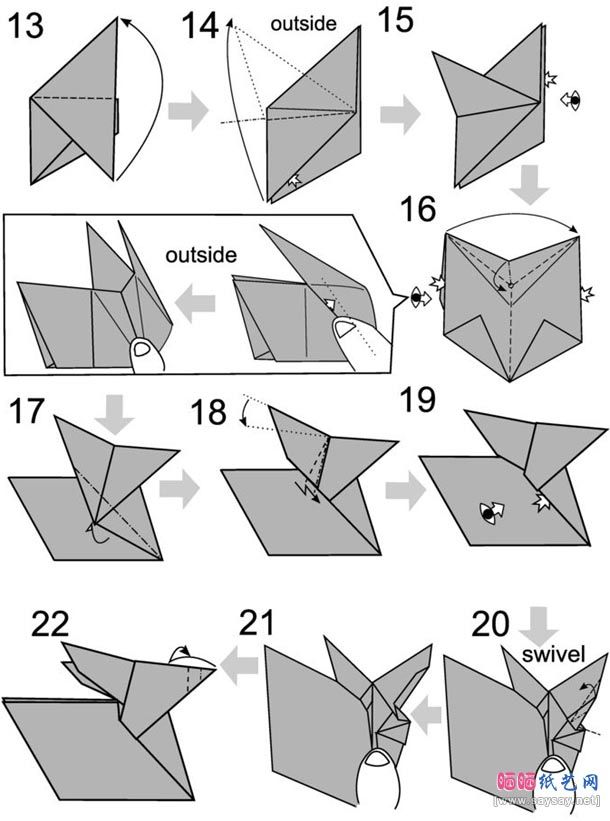 Origami Rabbit Is Very Easy To Make Just Follow Our Detailed Instructions And Picture Diagrams Step By
