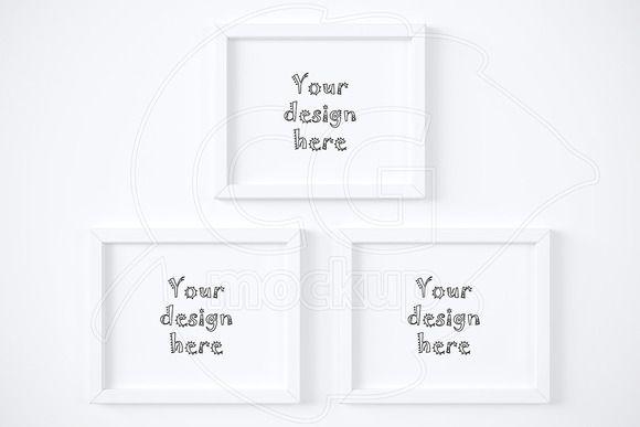 02b3a078f87d Three simple horizontal frame mockup  creativework247