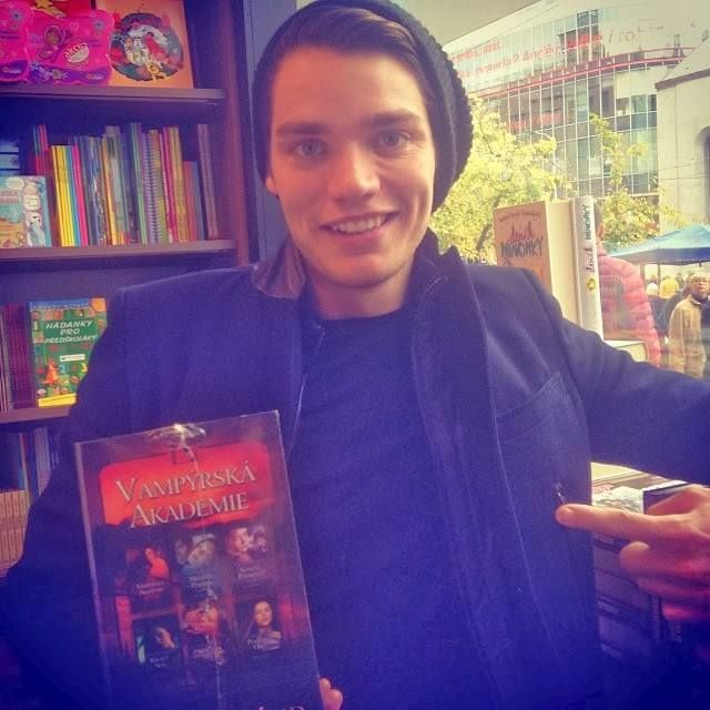 "Dom Sherwood in Prague: ""Found this in a Czech bookshop. #prague #VampireAcademy #va"""