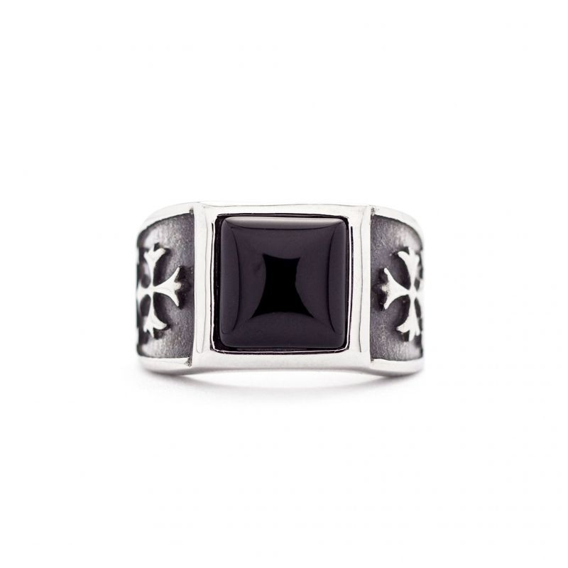 2349 Mens ring with cross design