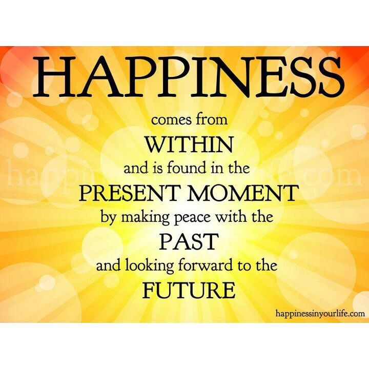 Happiness WOW...peace with the past, that's tough