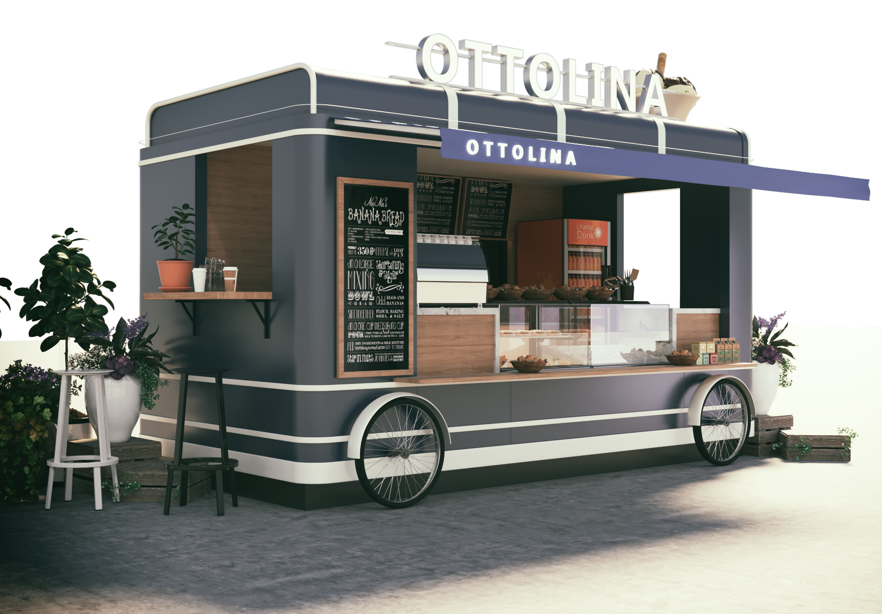 Food truck design for ottolina cafe shop it looks yami for Food truck blueprint