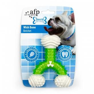 All For Paws Dental Wish Bone Dog Toy Green The Thermal Plastic