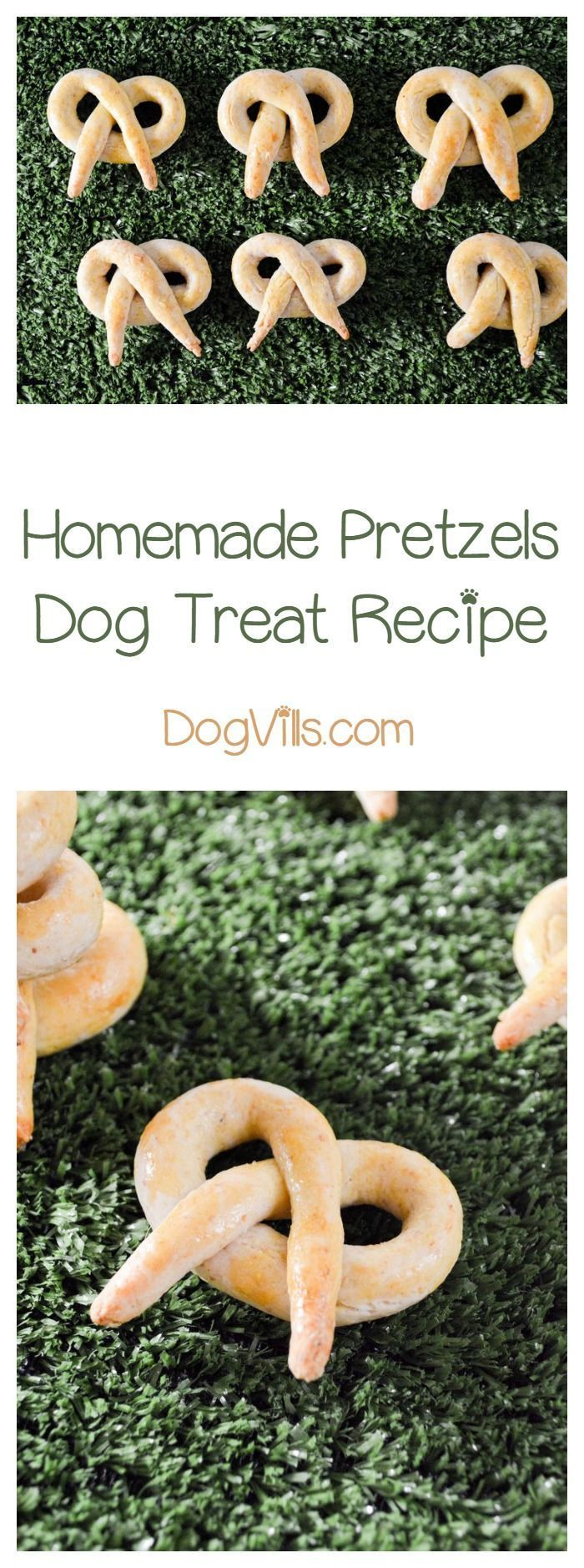 Soft Pretzel Dog Treat Your pooch is going to love this delicious homemade pretzels dog treat recipe! It's just like your favorite pretzel, but with a bit of a twist! Pun intended!Your pooch is going to love this delicious homemade pretzels dog treat recipe! It's just like your favorite pretzel, but with a bit of a twist! Pun intended!