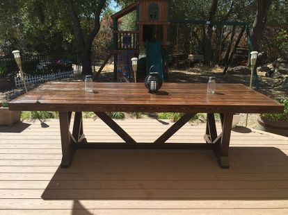 Astounding Diy Large Outdoor Dining Table Seats 10 12 Woodworking Download Free Architecture Designs Terstmadebymaigaardcom