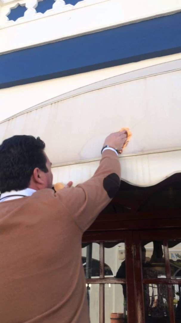 LIMPIEZA DE TOLDOS, CARPAS, Y LONAS CON Orange Cleaning Power BIO RECUPE...