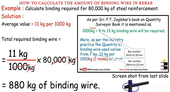 How To Calculate The Amount Of Binding Wire In Rebar