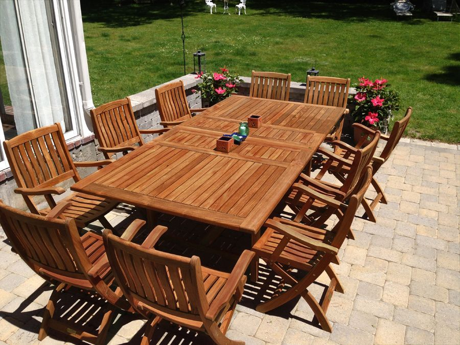 Charm Family And Friends With Dynamic Teak Furniture In Your Backyard Teakoutdoorf Teak Patio Furniture Teak Outdoor Furniture Wood Patio Furniture
