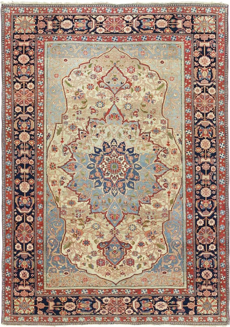 A Kashan Mohtasham Rug Central Persia C 1890 6 Ft In X 4 7 197 Cm 140 Estimate 000 8 This Lot Is Offered Oriental Rugs And