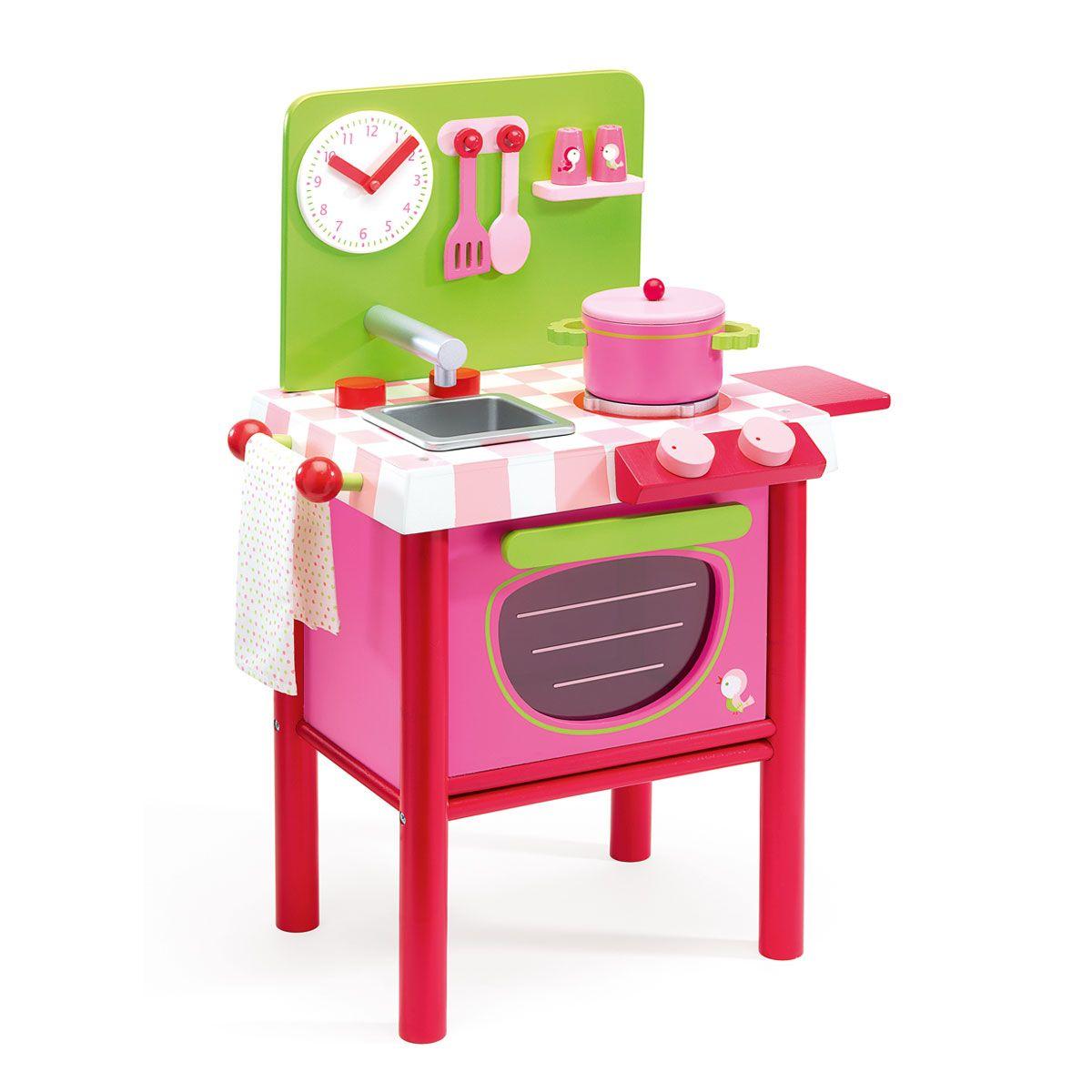 Cuisini re en bois djeco pour enfant de 3 ans 8 ans - Ustensile de cuisine pour enfants ...