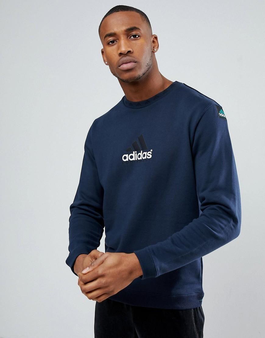 Adidas Originals Fitted Sweatshirt At Asos Com Long Sleeve Tshirt Men Mens Sweatshirts Hoodie Sweatshirts Hoodie [ 1110 x 870 Pixel ]