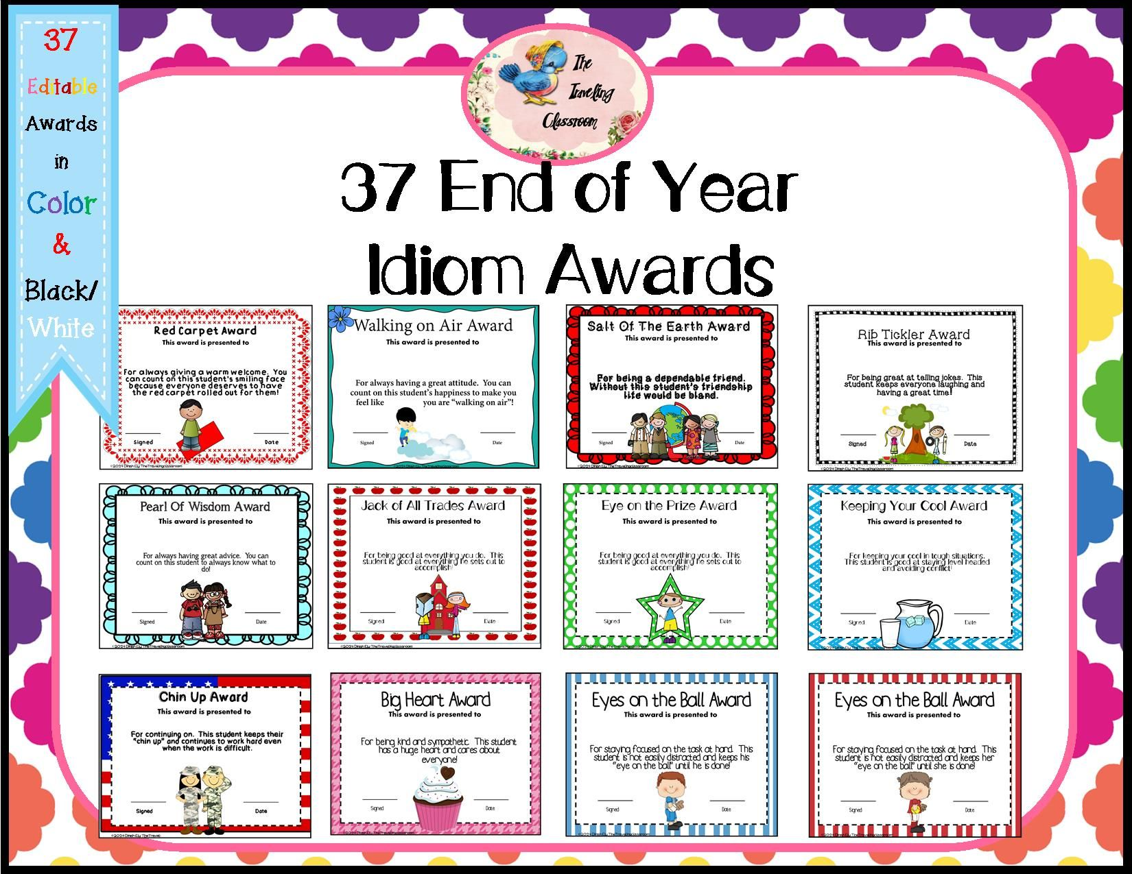 Crazy image for printable end of the year awards for students