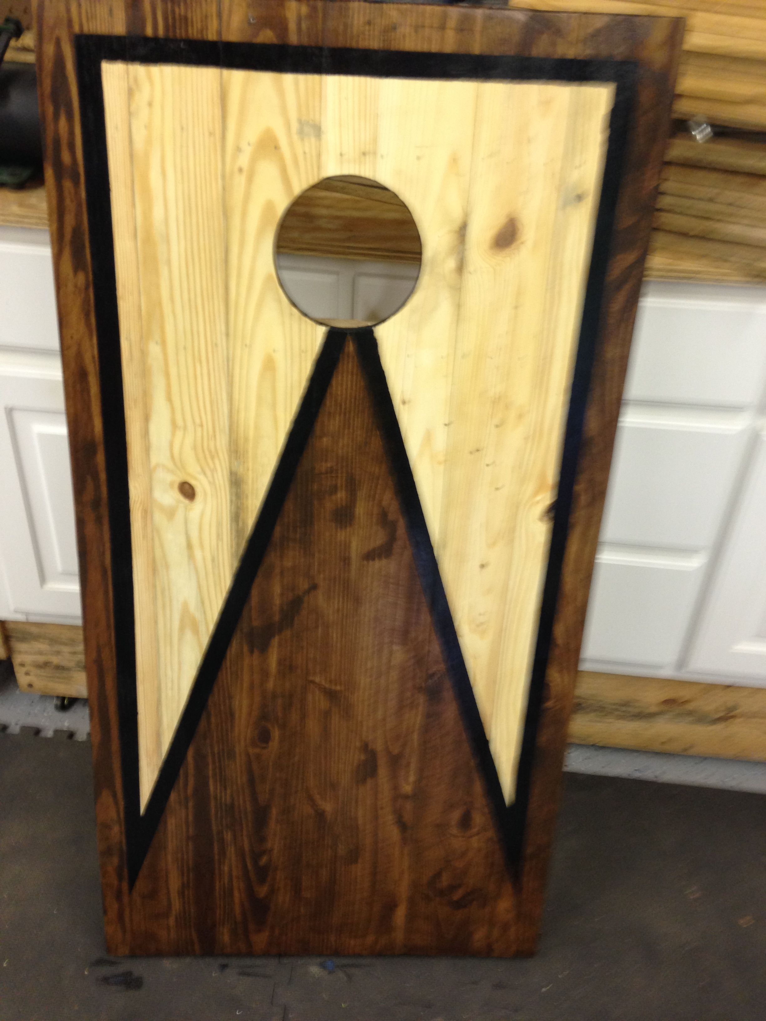 Corn hole boards made entirely out of pallet wood Pallets