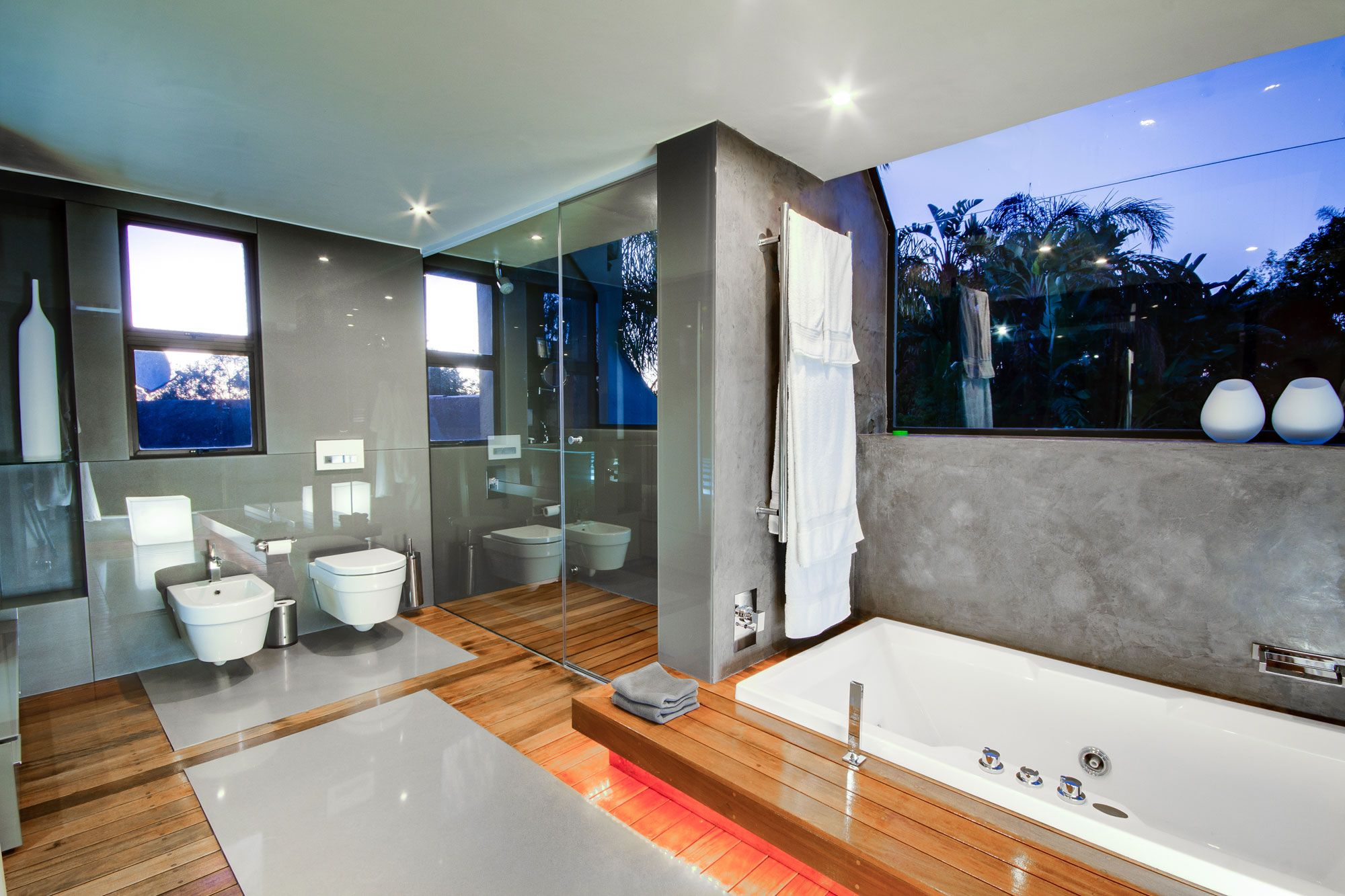 Architecture, Sensational House In Ferndale Design Interior For Bathroom Decorated With Modern Design Used Grey Wall Color Decoration Ideas ~ Staggering Suburban House in South Africa