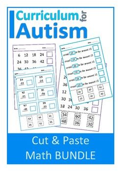 Cut  Paste Math Bundle Autism  Special Education  Activities
