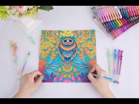 Shuttle Art 120 Unique Colors Amazing Set Of Gel Pens Youtube Gel Pens Coloring Gel Pens Book Drawing
