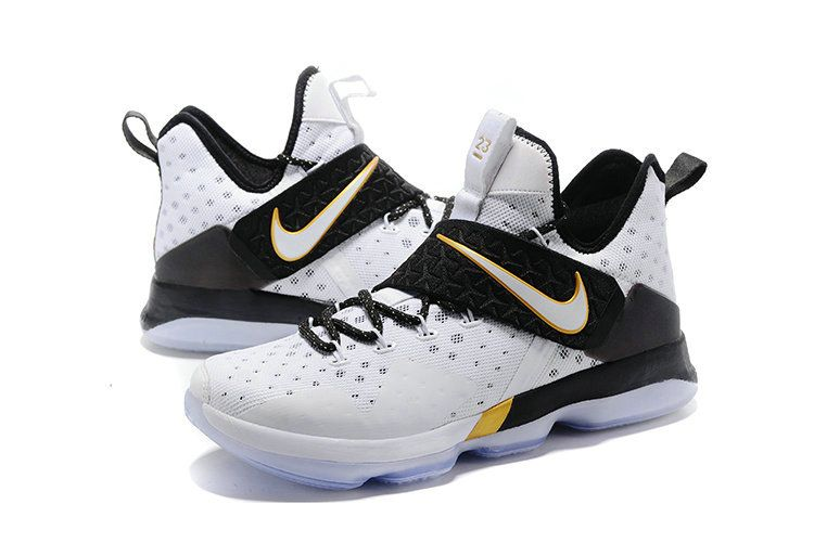 Cheap Newest Lebrons Lebron 14 XIV BHM White Metallic Gold Black History  Month