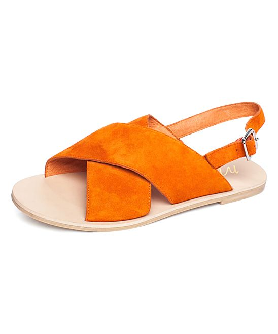 Orange Arielle Cow Hair Sandal