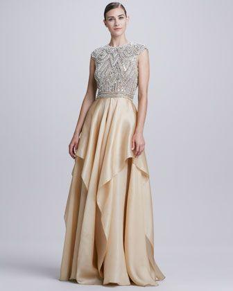 5fd402c4 Beaded-Bodice Ruffle-Skirt Ball Gown by Naeem Khan at Bergdorf Goodman.