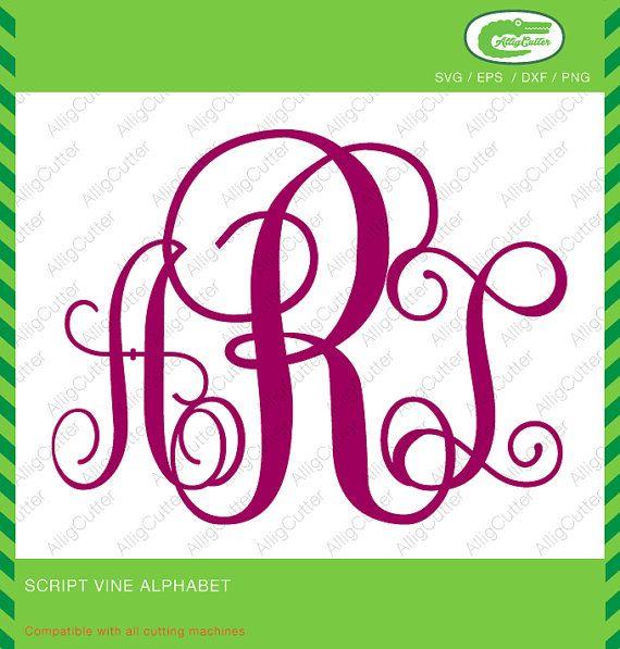 Download Script Vine Alphabet Monogram SVG DXF PNG eps font by ...