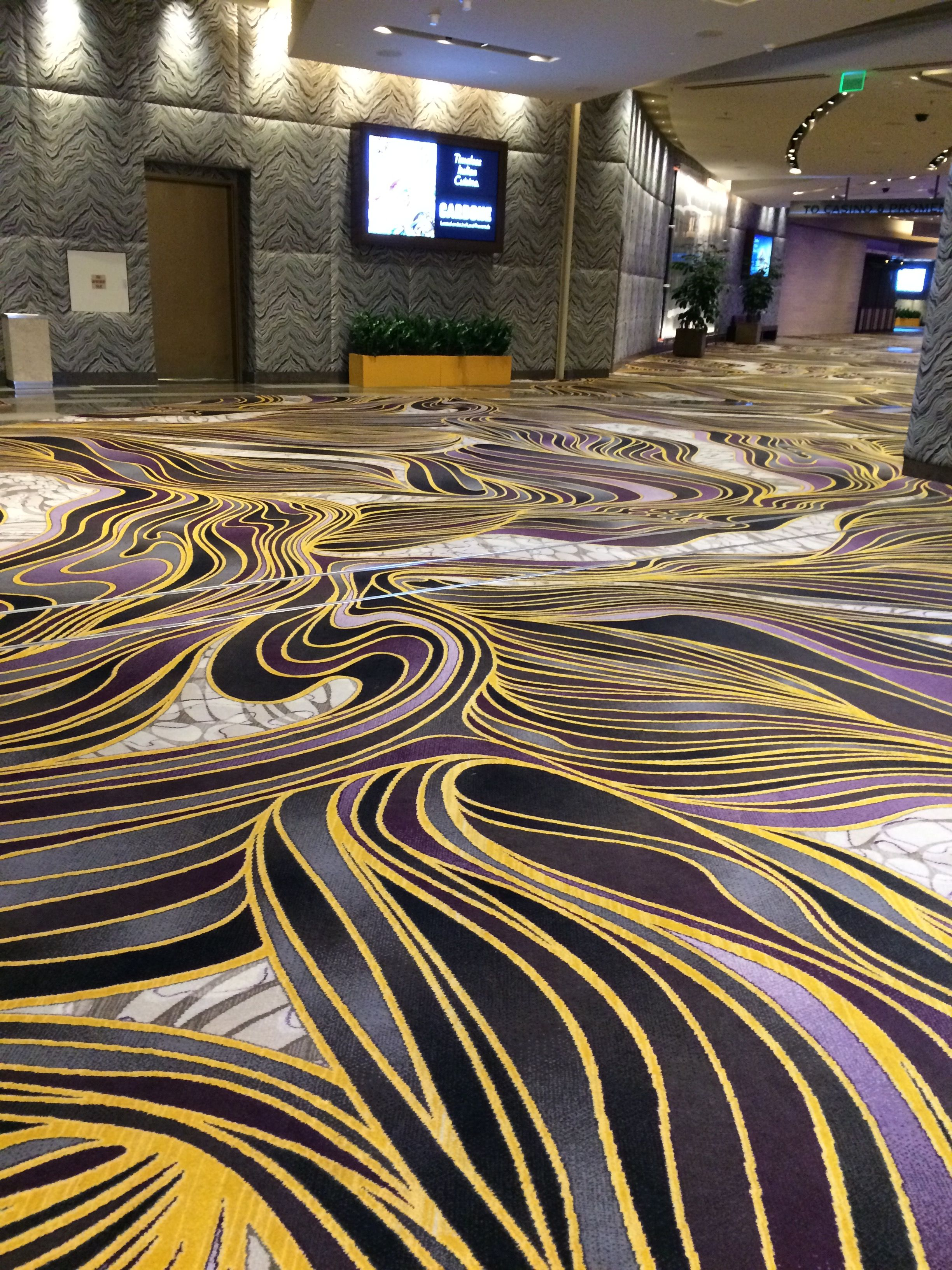 The Carpet At Aria Hotel A Work Of Art Animal Print Rug