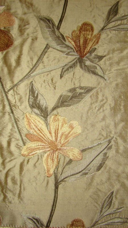 Details About Embroided Royal Pure Silk Curtain Fabric