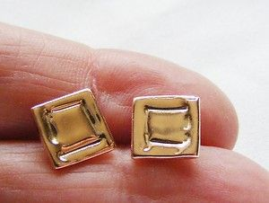 540d30e5c These Melted Square Stud Earrings are handmade in 9ct Rose gold. A nice  size that is noticed and also wearable everyday. Sold with 9ct gold  butterflies.