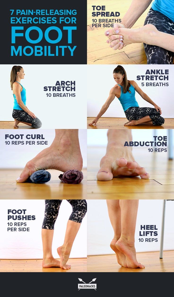 7 Pain-Releasing Exercises for Your Achy Feet #fitness #exercises