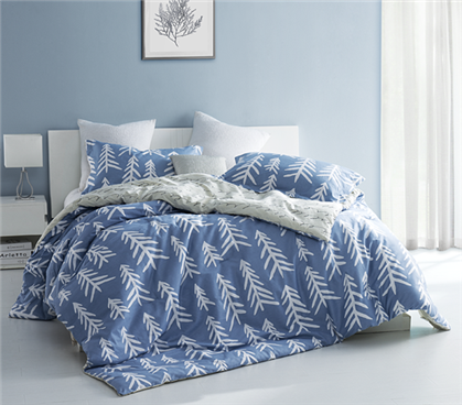 Dorm Room Comforter Set Blue And White Extra Long Twin Designer