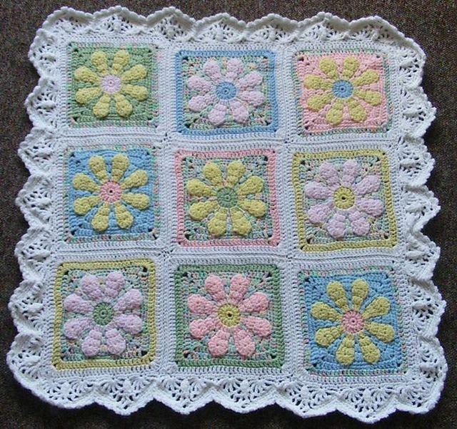 Daisy Flower Charity Square pattern by Krystal Nadrutach | mantas ...
