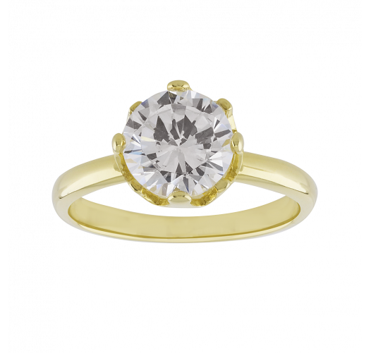74ba4be60d 18K Yellow Gold Plated Solitaire Ring 1.75 Carat - Silver Rings, Buy Silver  Rings Online