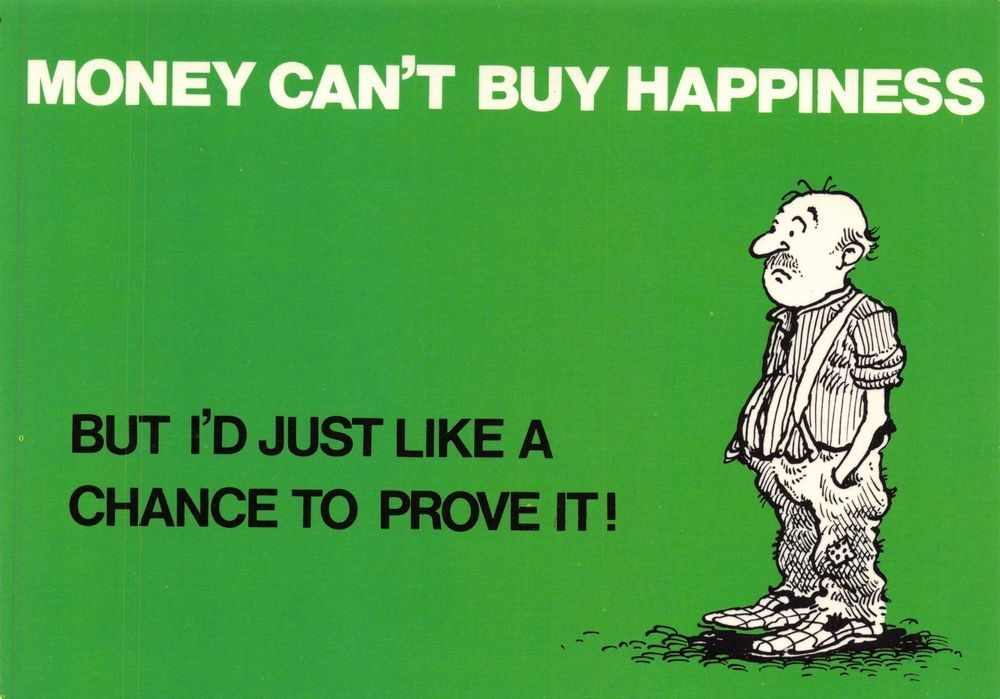 retweet #postcards Postcard Humour Slogan MONEY CAN'T BUY