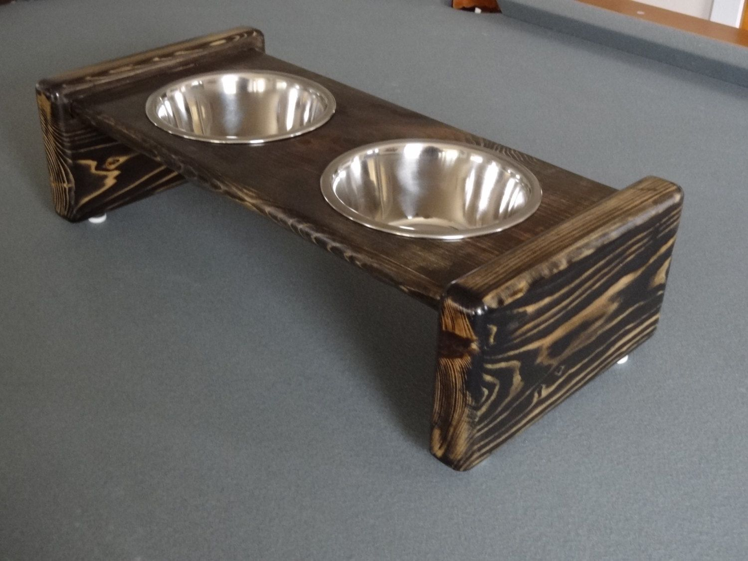 Medium Wooden Dog Bowl Stand