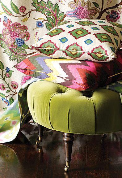 Adras ikat pillow cover in Caravan - 20 x 20 -- colorful home ...