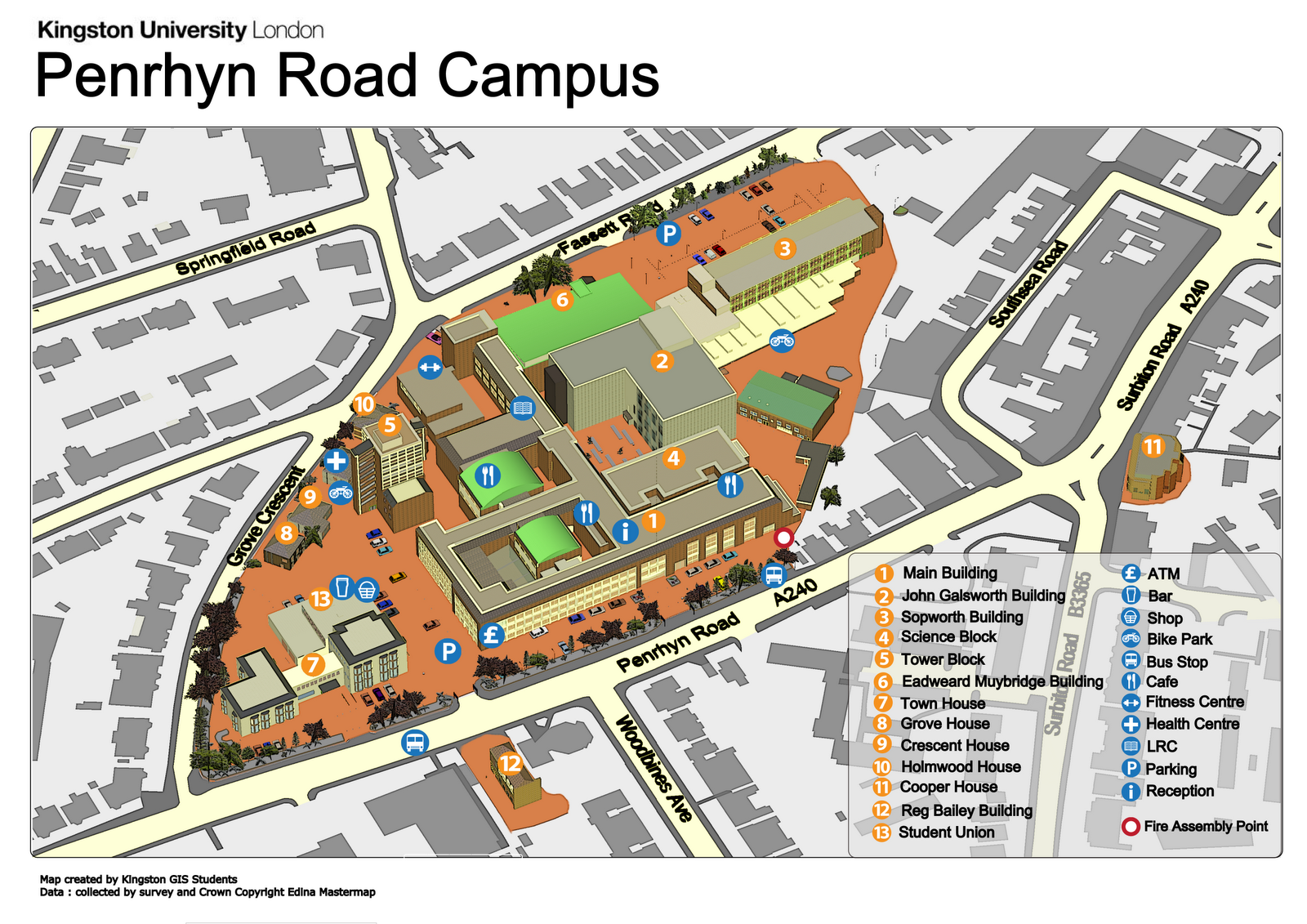 Kingston University Campus Map Pin by Jonathan Goodwin on Campus Maps   Campus map, Map, Games