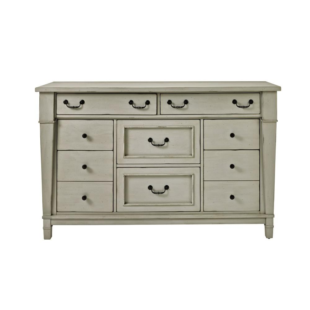 Bridgeport 8 Drawer Antique Grey Dresser 1872600270 The Home Depot Grey Dresser White Wash Dresser Drawers [ 1000 x 1000 Pixel ]