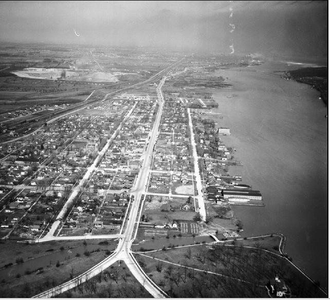 Aerial View Of Downriver Area Of Detroit In The 1930 S Detroit